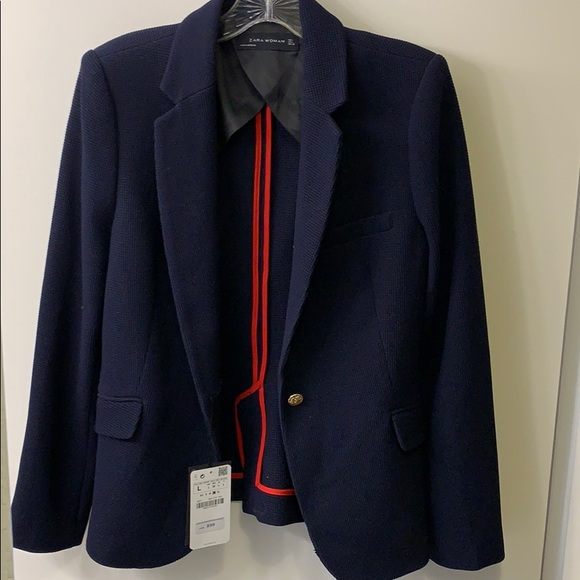 Zara Jackets & Blazers - NWT Navy Zara Blazer (purchased in Hong Kong)